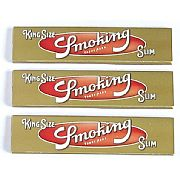 Seda Smoking Slim (Dourada) King Size c/ 33 Folhas (3 livros)