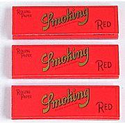 Seda Smoking Red (Vermelha) Medium c/ 50 Folhas (3 livros)