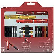 Caneta Sheaffer Calligraphy Maxi Kit Tinteiro 73404