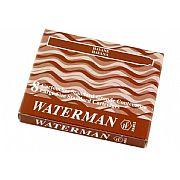Cartucho Waterman Standard Marrom (Havana) com 8 Peças S0110930