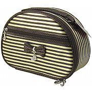 Necessaire Oval 25cm Marrom com Dourado Jacki Design JBD22239M