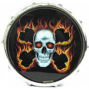 """Desfiador de Fumo Drum Set """"Caveira com Ossos Cruzados"""""""